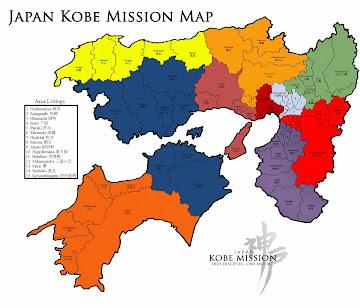 Japan Kobe Mission Map