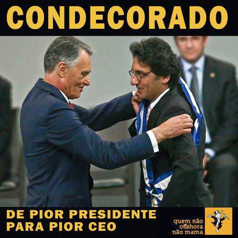 corrupção zeinal bava cavaco medalha