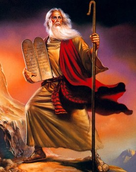 Moses Receives Ten Commandments