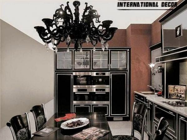 Art Deco kitchen designs and furniture, black kitchen