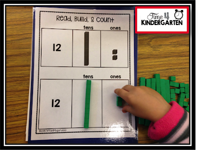 base ten in kindergarten, KCC2, math centers, math work stations
