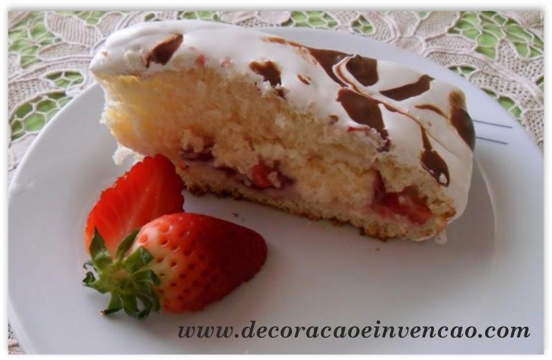 torta de morango fácil e deliciosa