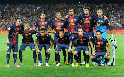 FC BARCELONA TEAM PHOTO 2013