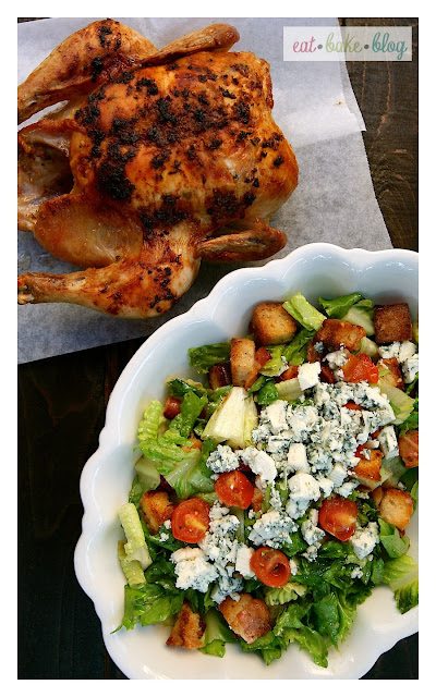 easy roasted chicken green salad homemade croutons