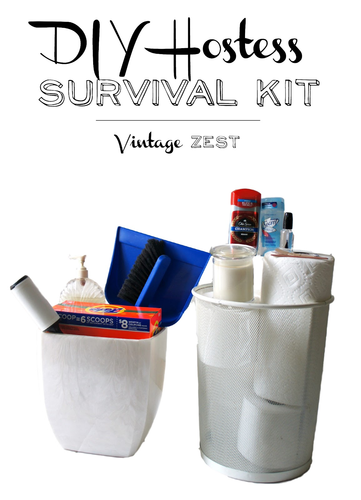 Hostess Survival Kit for Party Disasters on Diane's Vintage Zest! #ad #AwardWithSavings #tutorial