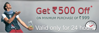 (Hurry!! Valid for 24 Hours Only) Flat Rs.500 OFF on Rs.999 @ BasicsLife Fashion Store