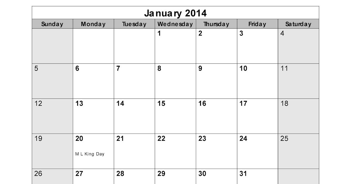 Calendar With N Holidays Pdf Free Download : January calendar printable