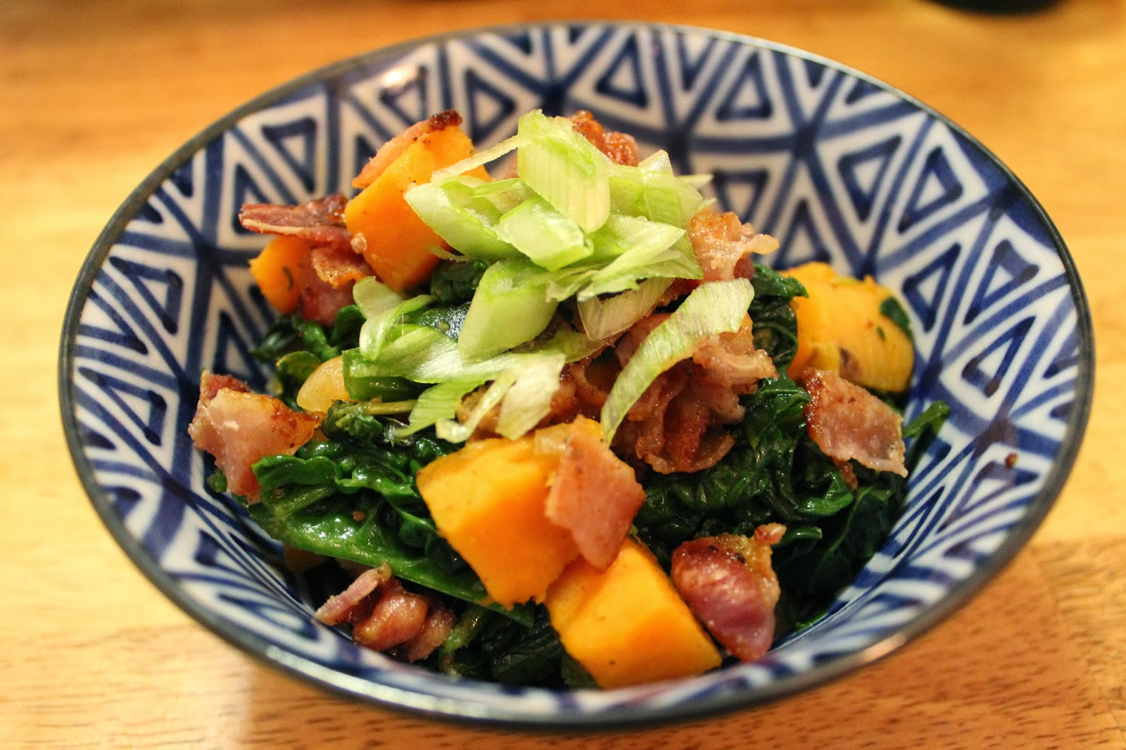 Roasted Sweet Potatoes with Sauteed Spinach | Runaway Apricot