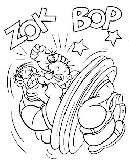 fight Popeye The Sailor Man Coloring Pictures