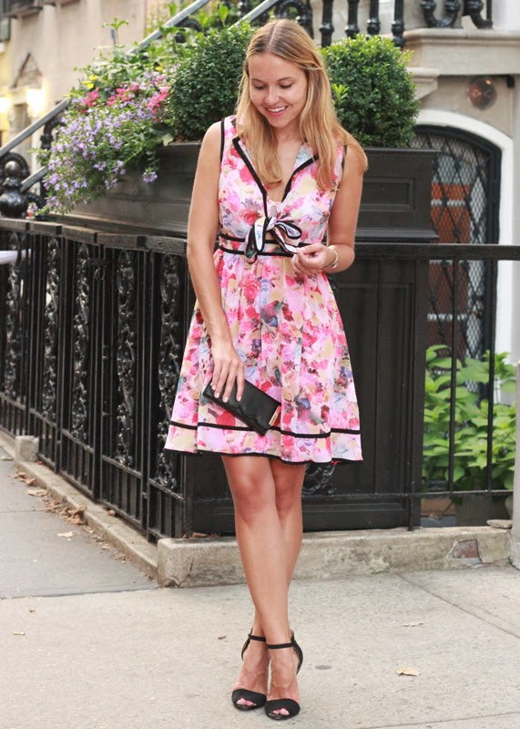 The Steele Maiden: Floral dress date night style