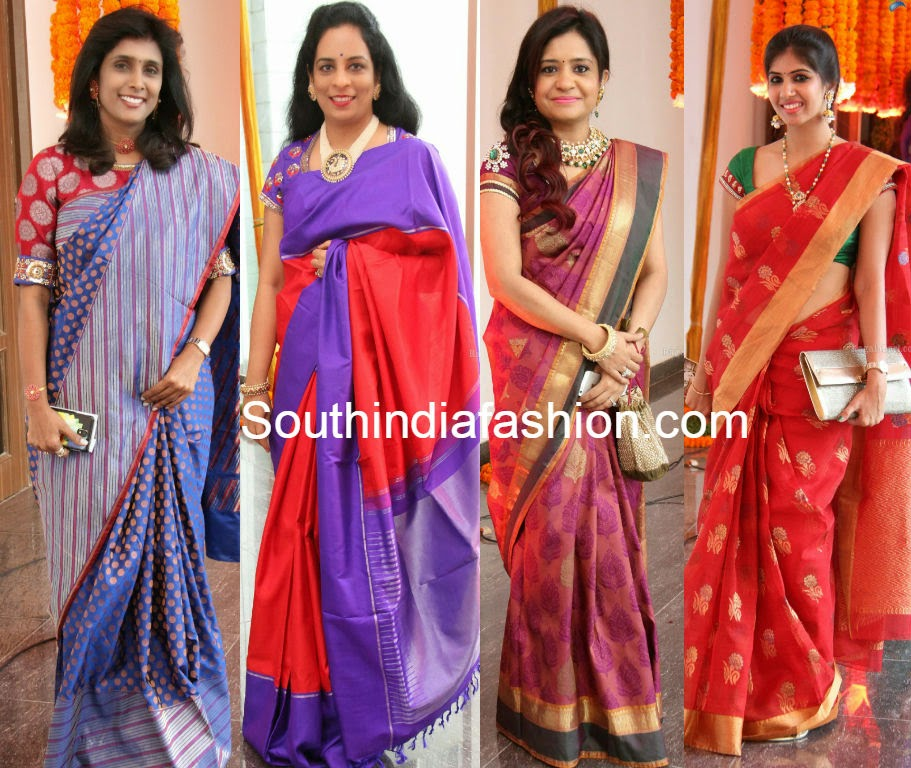 hairstyles with silk sarees