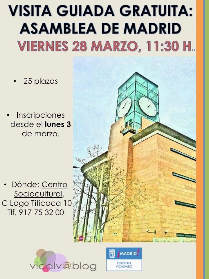 Visita guiada de marzo: Asamblea de Madrid viernes 28, 11:30