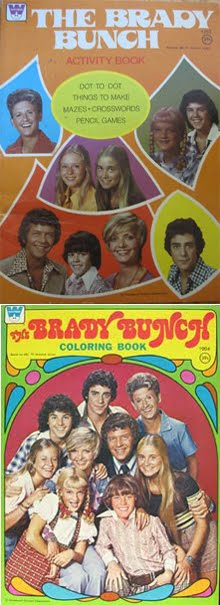 Brady Bunch coloring books:
