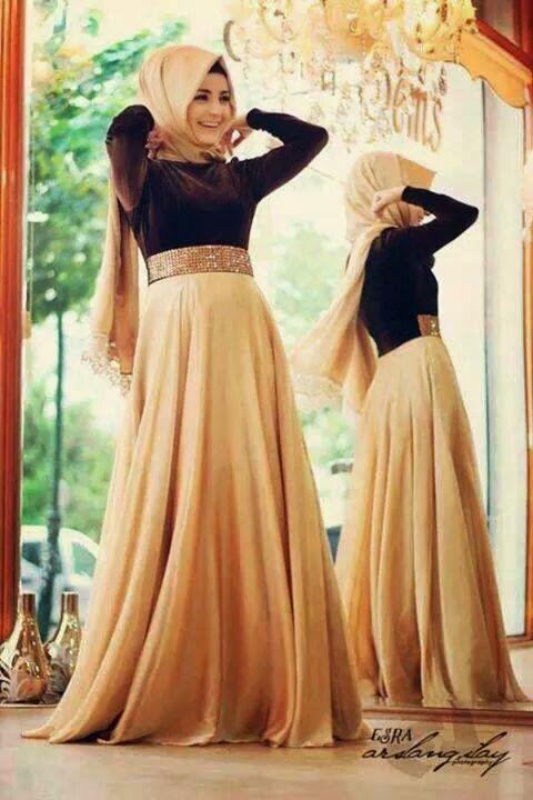Hijab soirée simple