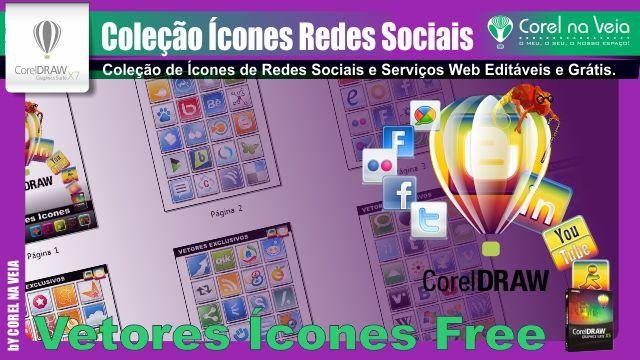 Coleção de Ícones de Redes Sociais Grátis.