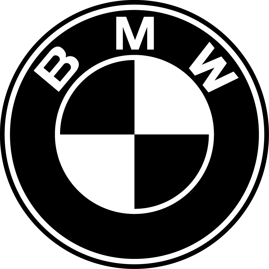 BMW logo black white