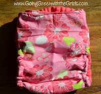 flower side snapping cloth diaper