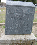 Tombstone Tuesday: M.E., Betty, and Infant Gresham