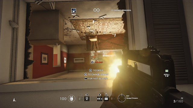 Tom Clancy's Rainbow Six Siege upside down rappel