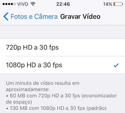 Gravação de vídeos iPhone 5s - iOS 9 beta 5
