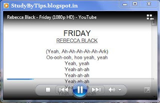 View Lyrics in Media Player.. By pharikesh.blogspot.com
