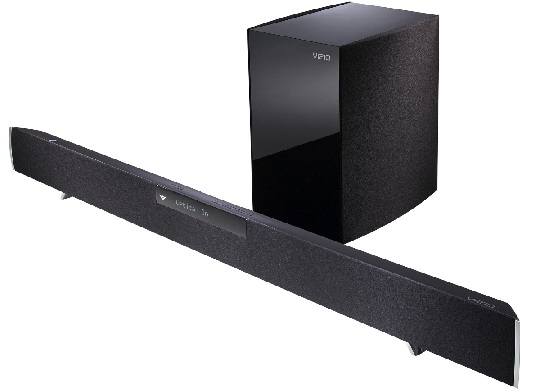 Get a Vizio sound bar and wireless subwoofer