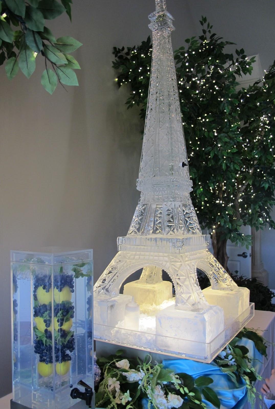 An Aqua French Inspired Wedding Reception Purple