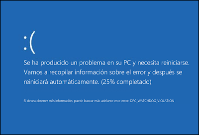 Cómo interpretar las pantallas azules :( de Windows 8