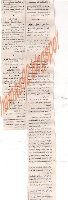 وظائف صحيقه الاهرام - الاثنين 18 يوليو 2011 Picture+001