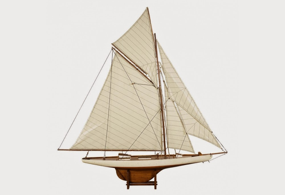 America's Cup Columbia 1901 Sailing Yacht Model