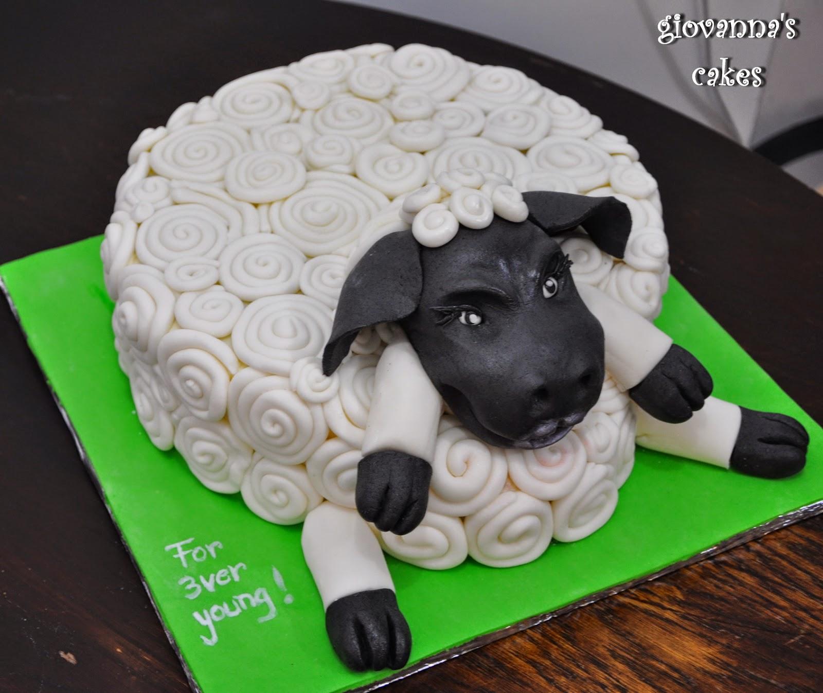 Giovannas Cakes Sheep Birthday Cake
