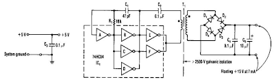 Isolated 15V To 2500V Power Supply Circuit Diagram