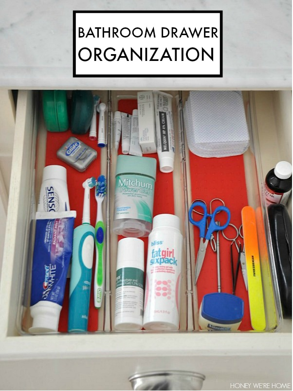 Tips to get you organized in the new year- including Bathroom Drawer Organization