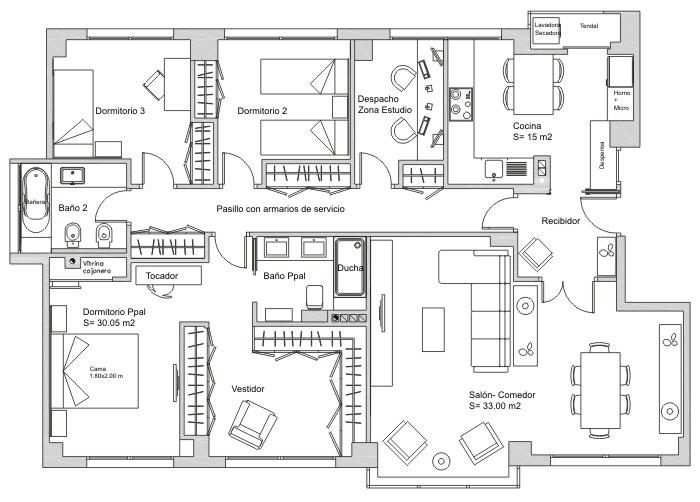 planos de casas lujosas de un piso