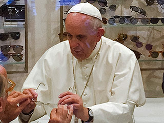 Pope Francis glasses