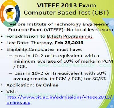VITEEE 2013 Entrance Test