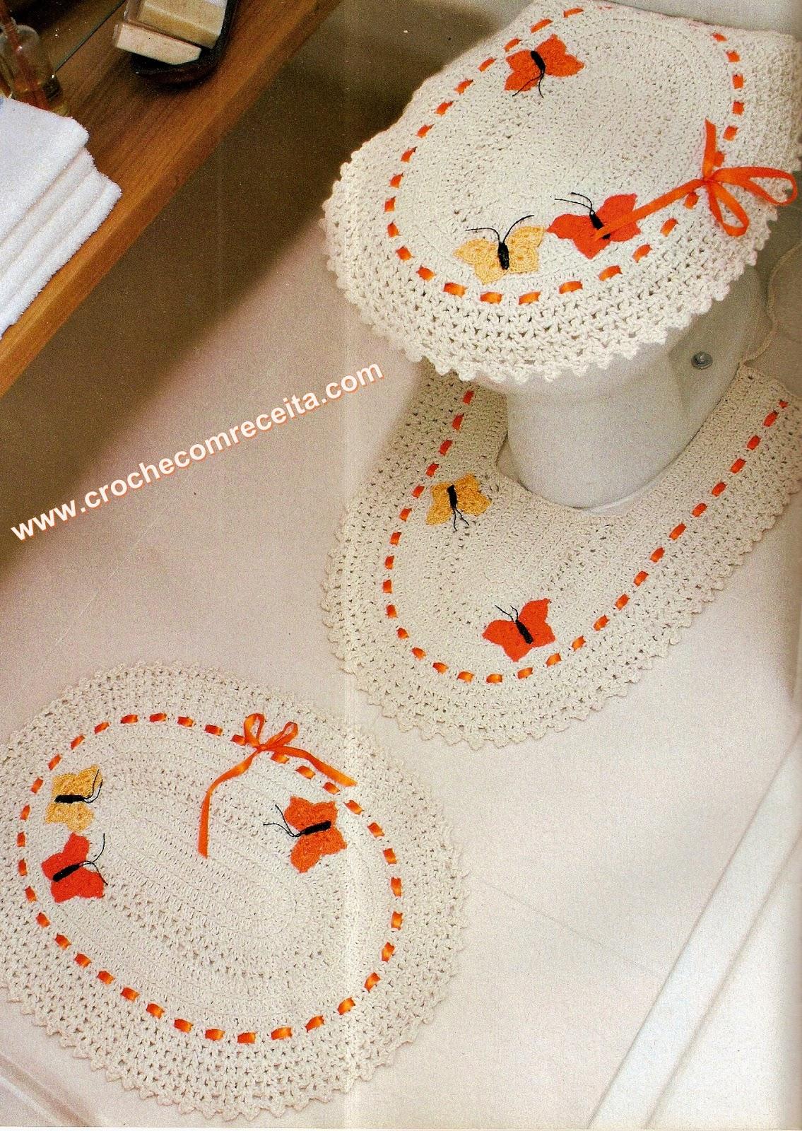 Croche com receita tapetes com borboletas em croch para for Clases de tapetes