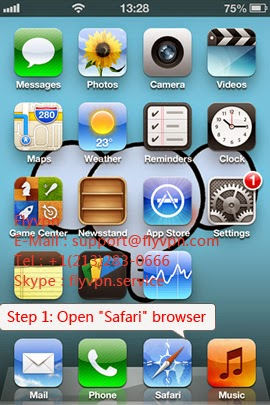 L'image du méthode d'utiliser le VPN gratuitement sur iphone/ipad.