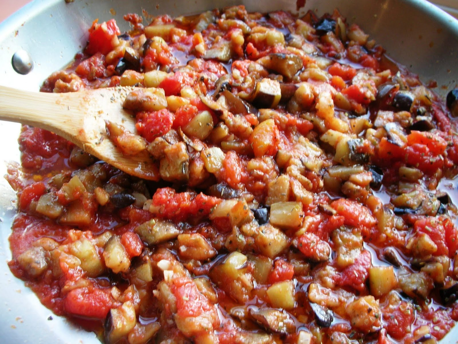 Aubergine Parmigiana' with Roasted Tomato Recipe