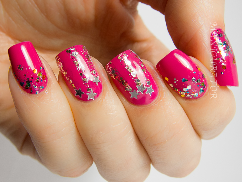 manicurator: New Year\'s Eve Nail Art with NOPI - Let it Snow Challenge