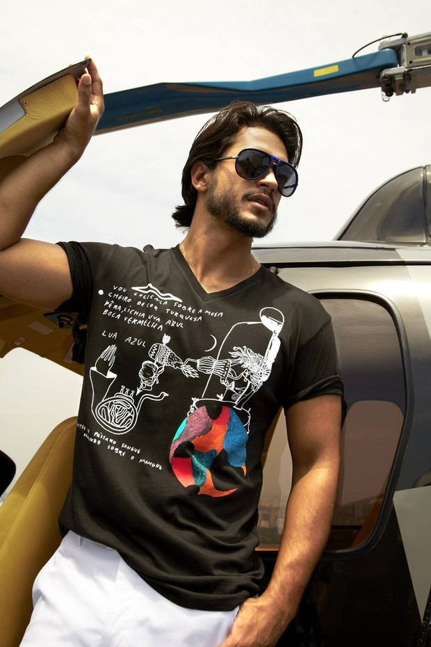Raphael Viana em foto para o catálogo de moda da Macy's