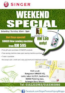 SINGER Weekend Special Sale 2012