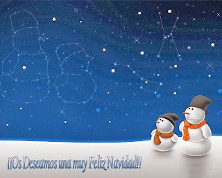tarjetas de navidad con muñecos de nieve y estrellas