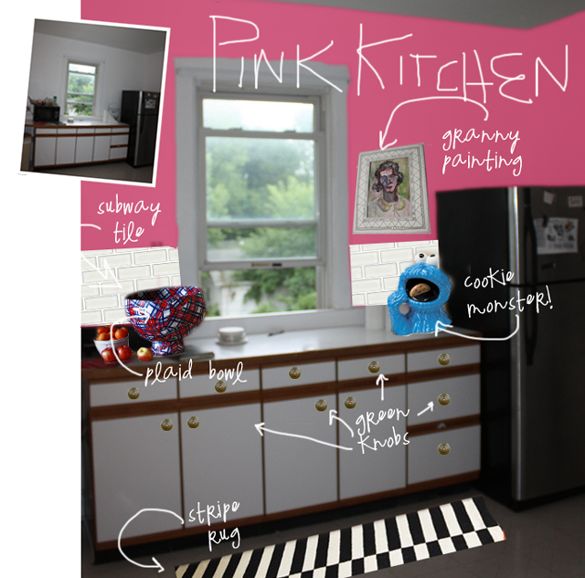 Pink Kitchen Walls pink kitchen - aunt peaches