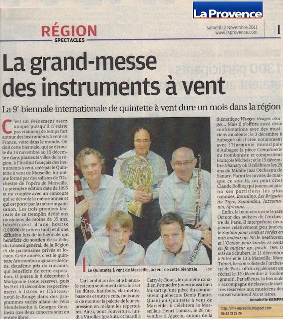 Article La Provence 12/09/2011