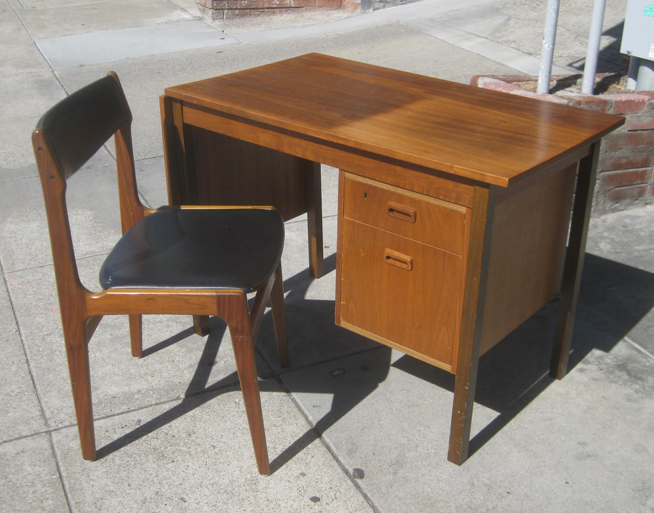 Uhuru Furniture Collectibles Sold Danish Desk And
