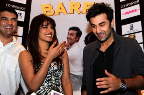 Priyanka Chopra and Ranbir Kapoor at Dubai for promotion of their movie