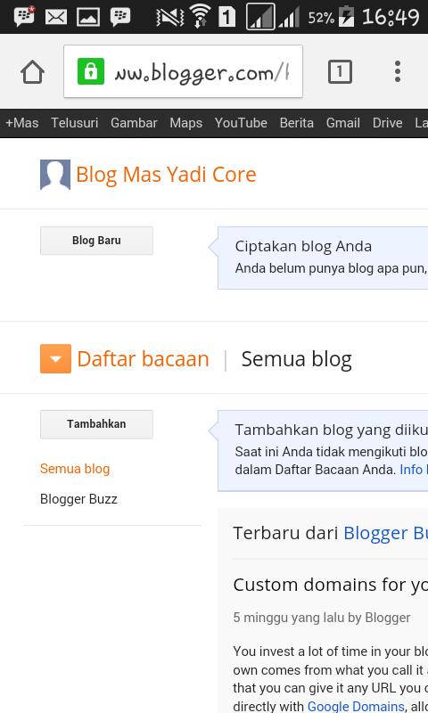 Cara Membuat Blog Gratis Lewat Android