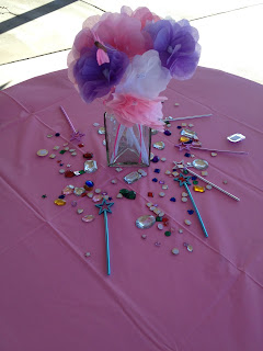 tissue paper flower centerpiece