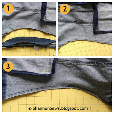 Easy tapered jacket alteration instructions